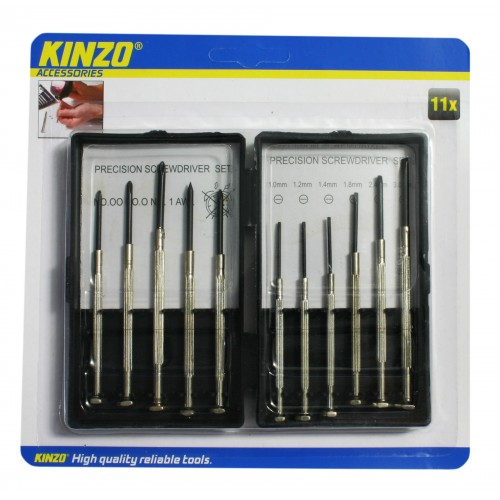 Kinzo 11-teiliger Präzisions-Schraubendreher-Kit.