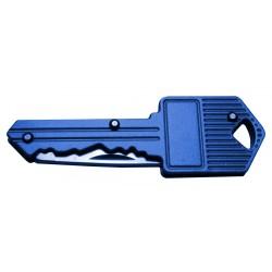 Mesje in sleutel voor sleutelbos (blauw)