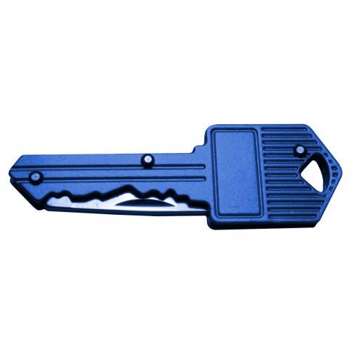 Mes in sleutel voor sleutelbos (blauw)