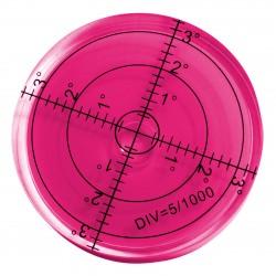 5 x runde Wasserwaage 66x11 mm rot