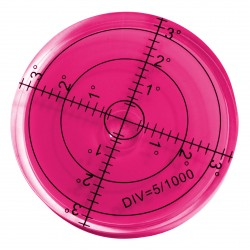 Round bubble level tool 60x12 mm red