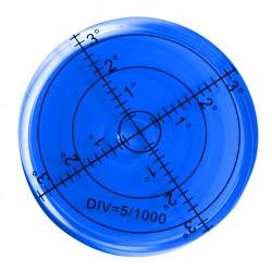 5 x Runde Wasserwaage 66x11 mm blau