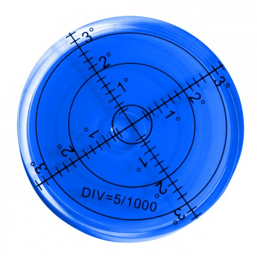 Round bubble level tool 60x12 mm blue
