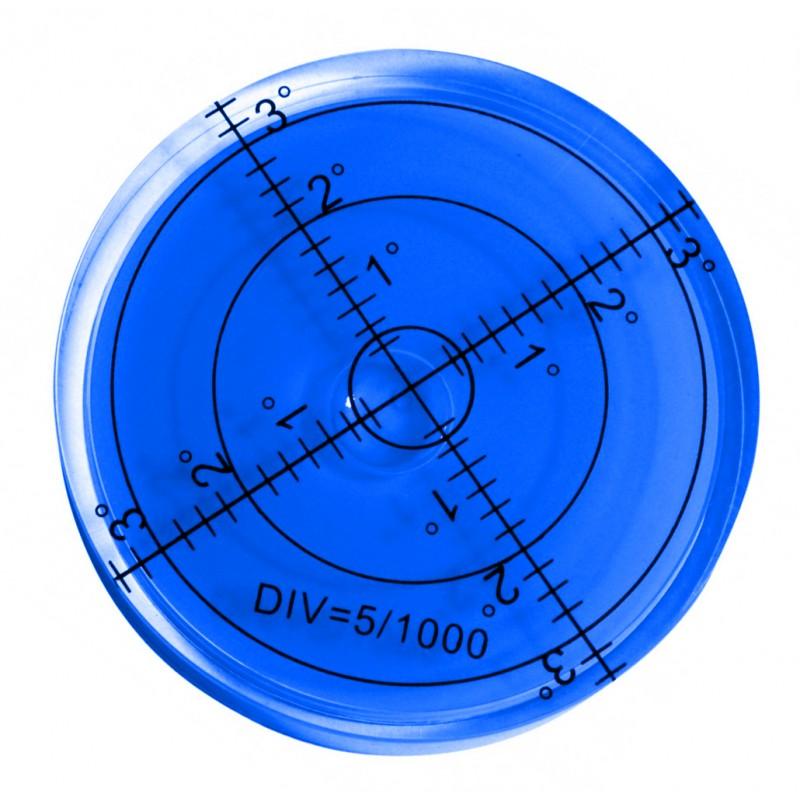 Ronde waterpas 60x12 mm blauw