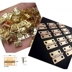 100 x Mini koperen scharnier (10mm x 8mm)