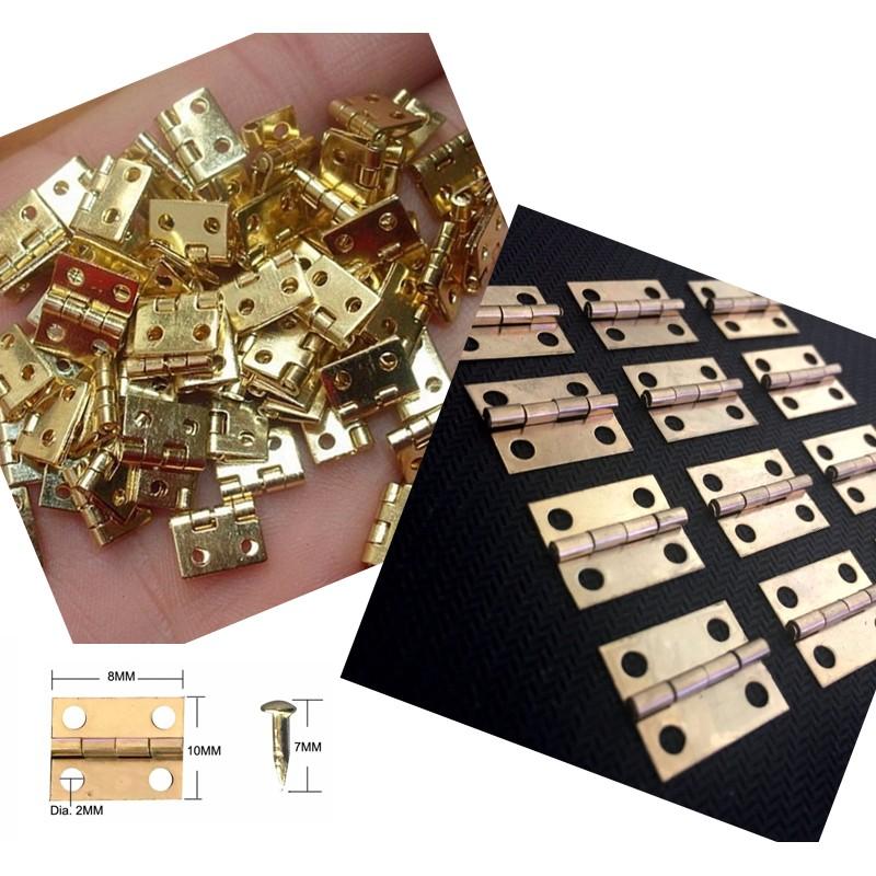 Mini copper hinges (10mm x 8mm)