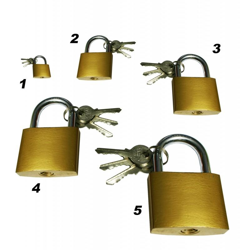Hangslot 38 mm met 3 sleutels, type 3