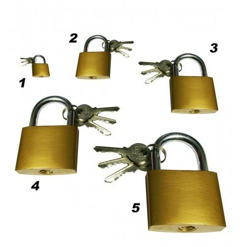 Hangslot 20 mm met 3 sleutels, type 1