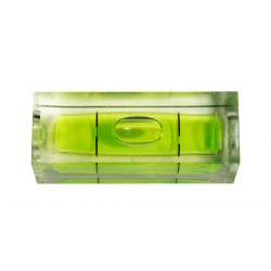 10 x vial for spirit level green rect, size 2