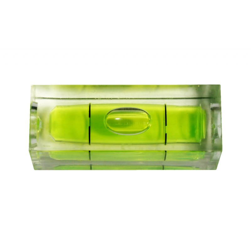 Vial for spirit level green rectangular, size 2