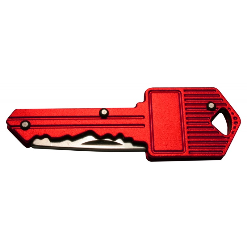 Mes in sleutel voor sleutelbos (rood)