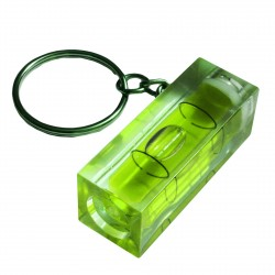 Key ring with bubble level (green)