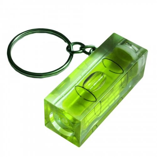 Schlüsselanhänger mit Wasserwaage (grün)